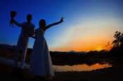 bride and groom silhouette 300x200