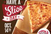 Free pizza slice at Villa Italian Kitchen