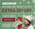 4-day sale: Extra 30% off select local Groupons